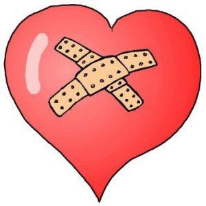 a bandaged heart