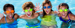 Alabama 4-H Summer Camp; children swimming