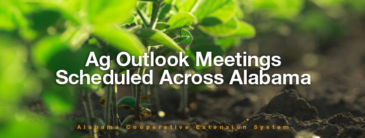 Ag Outlook Meetings Scheduled Across Alabama