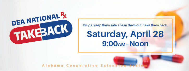DEA National Rx Takeback Saturday, April 28 9 a.m. to noon
