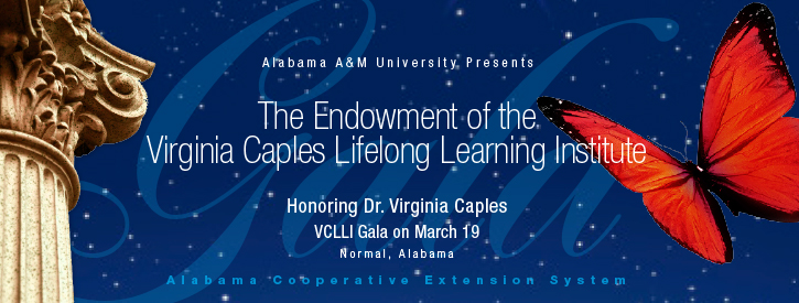 An Evening of Academia, Achievements, and the Arts honoring Dr. Virginia Caples. VCLLI Gala on March 19, Normal, Alabama