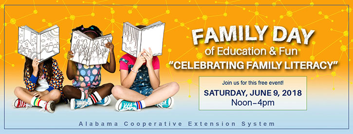 Family Day of Education & Fun Celebrating Family Literacy. Join us for this free event Saturday, June 9 noon to 4 p.m.