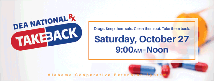 DEA National Rx Takeback - October 27, 9:00AM-Noon