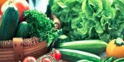 Freshness vegetables; Live Well Alabama logo for social media
