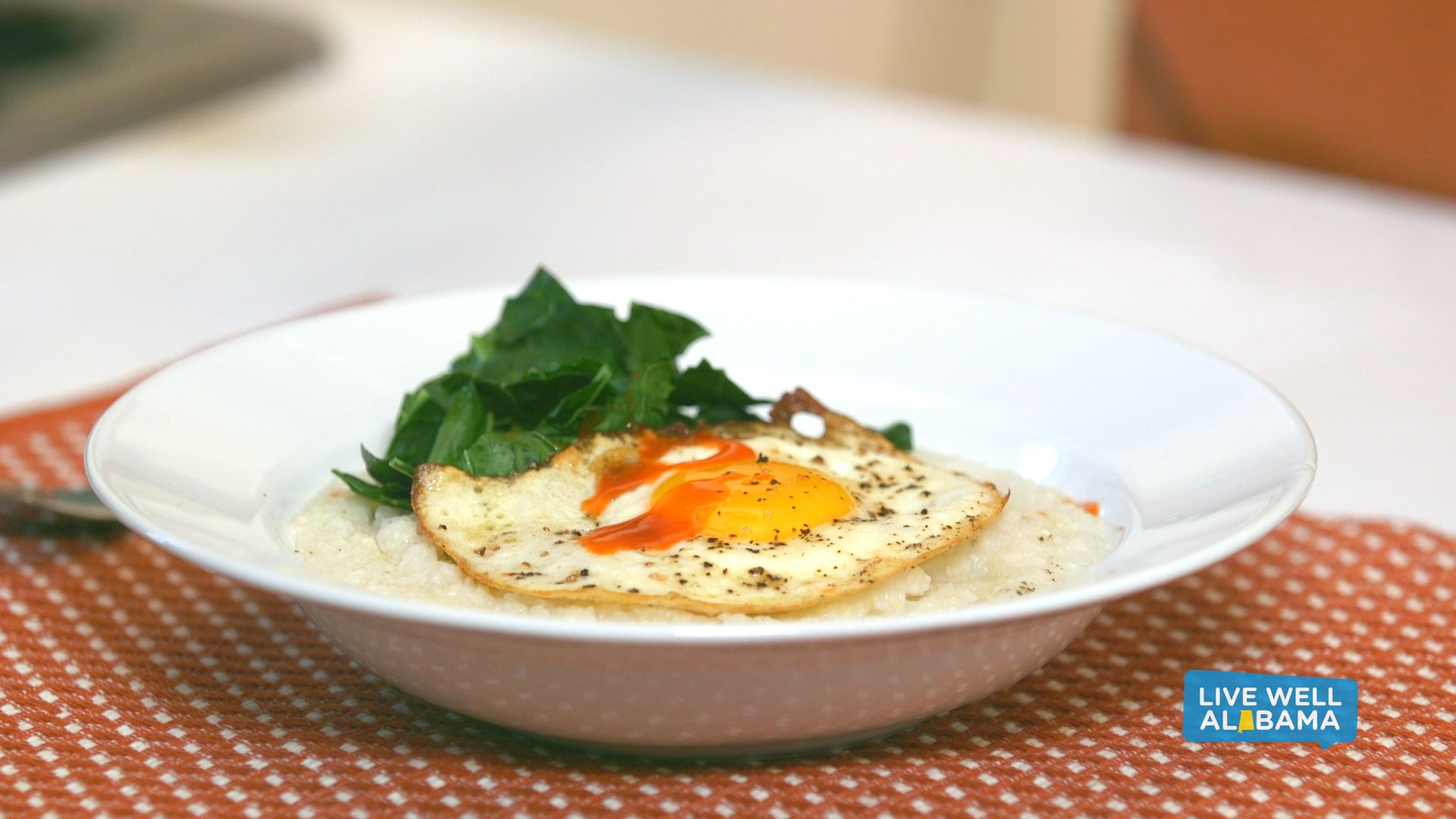 Live Well Alabama Recipe, Grits and Greens