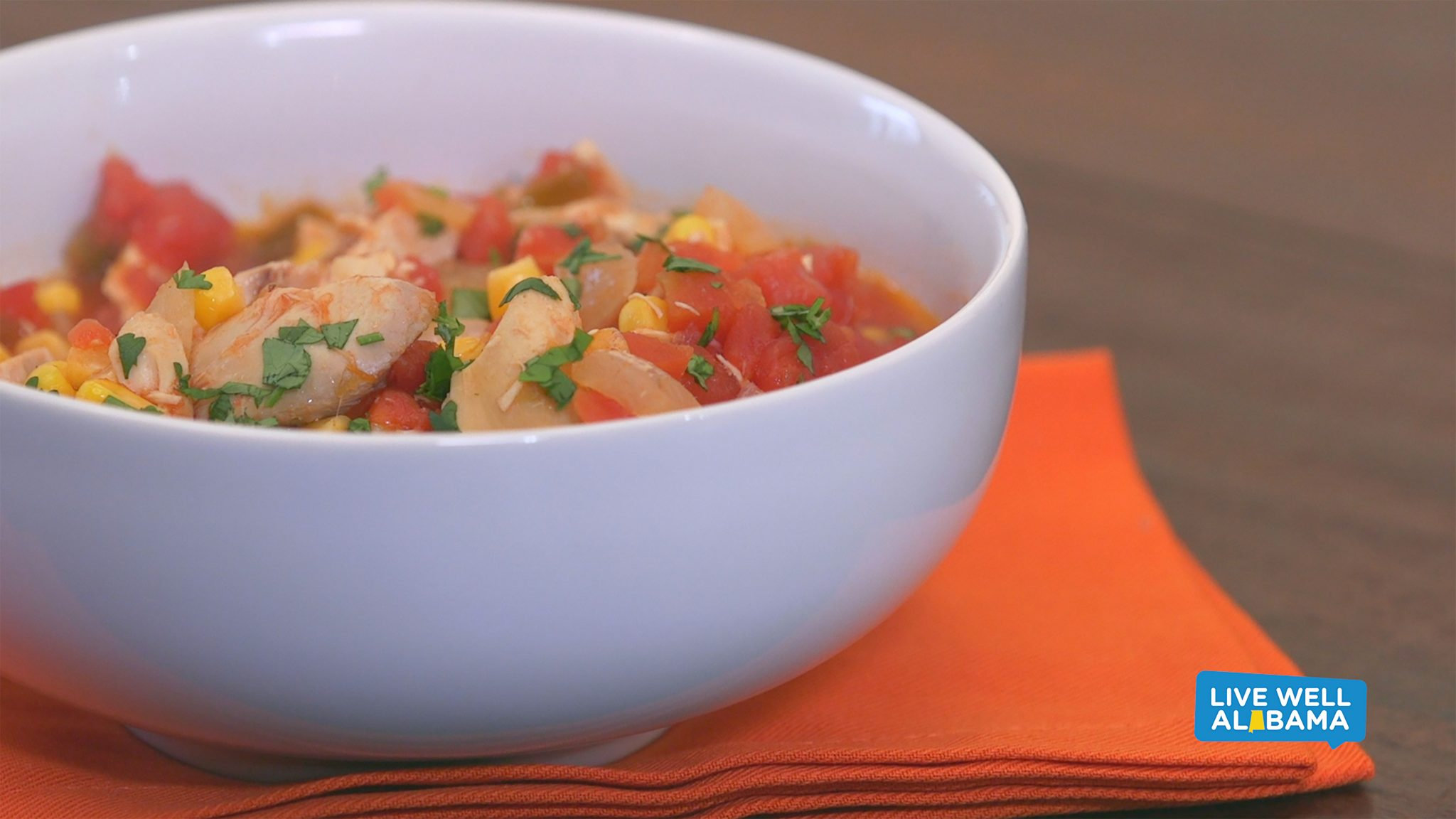 Live Well Alabama recipe, Kickin' Chicken Stew.