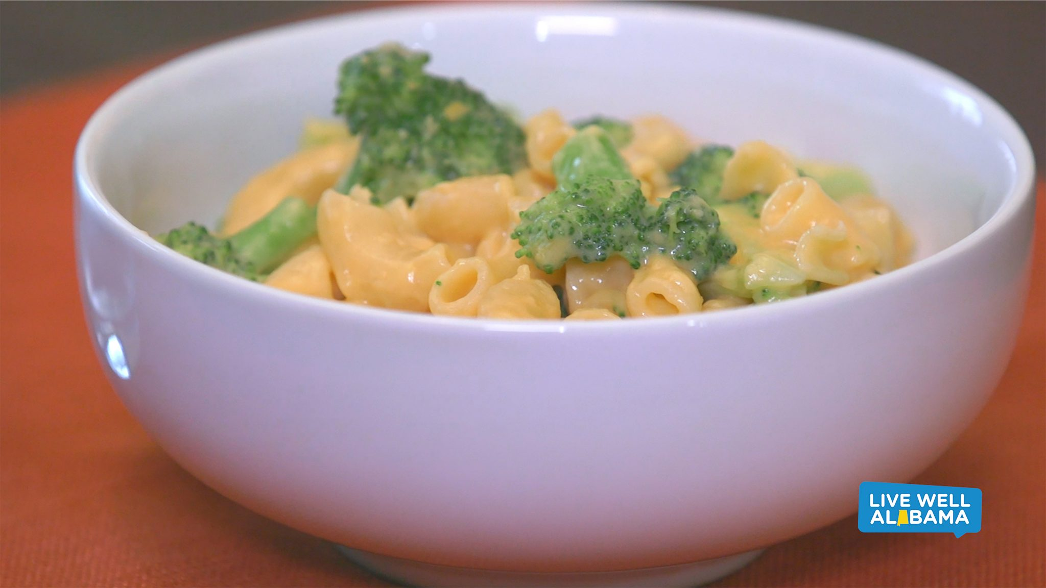 Live Well Alabama recipe, Power Mac and Cheese. Broccoli added.