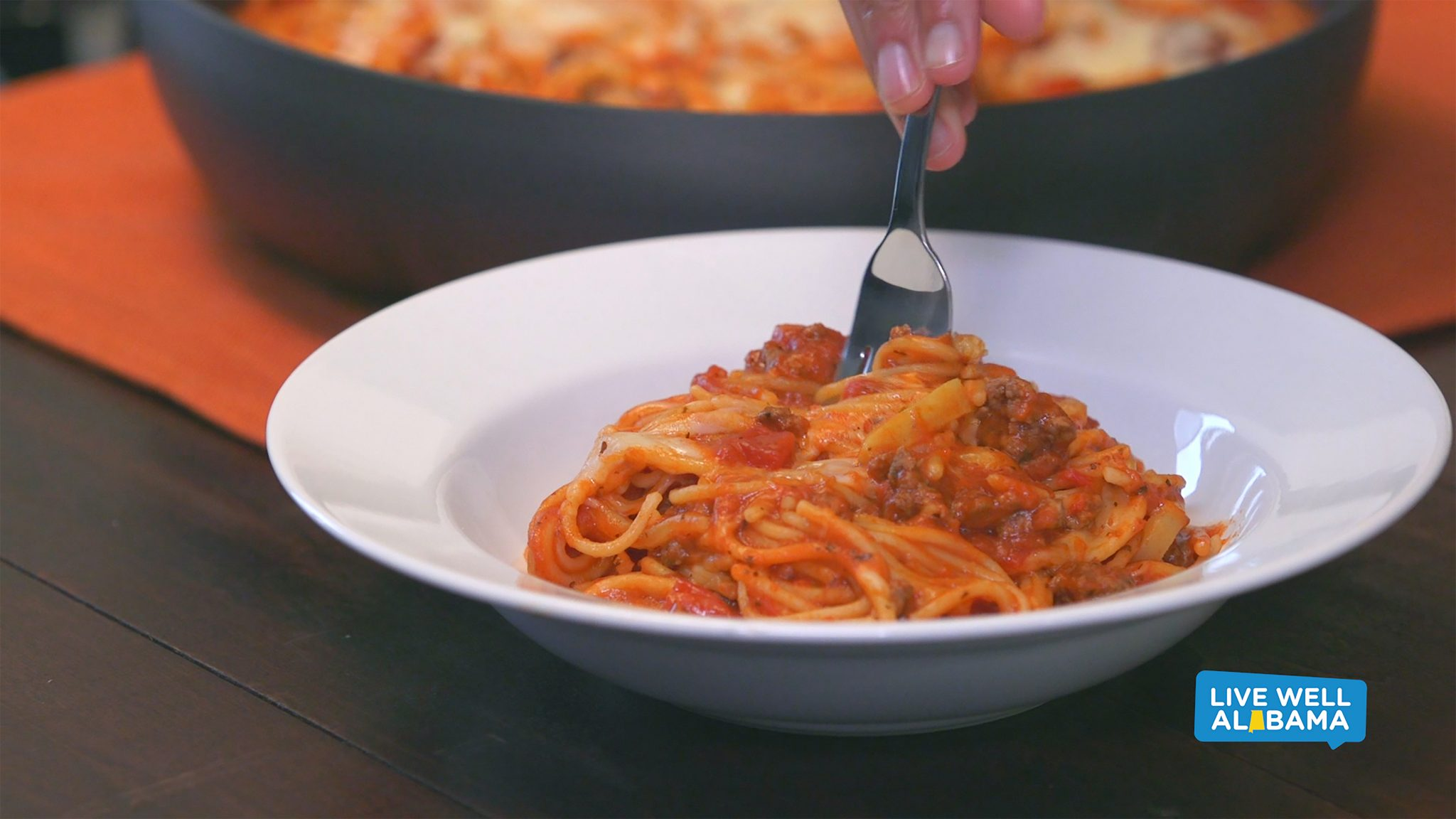 Live Well Alabama recipe, Skillet Spaghetti.