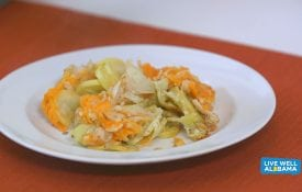 Live Well Alabama recipe, Squash Casserole with Saltine Crust.