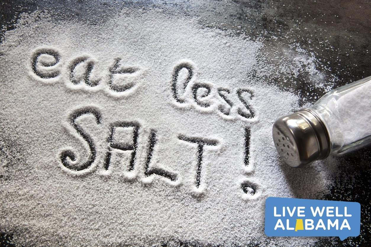 salt pouring onto table