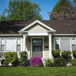 Small single family home in urban neighborhood