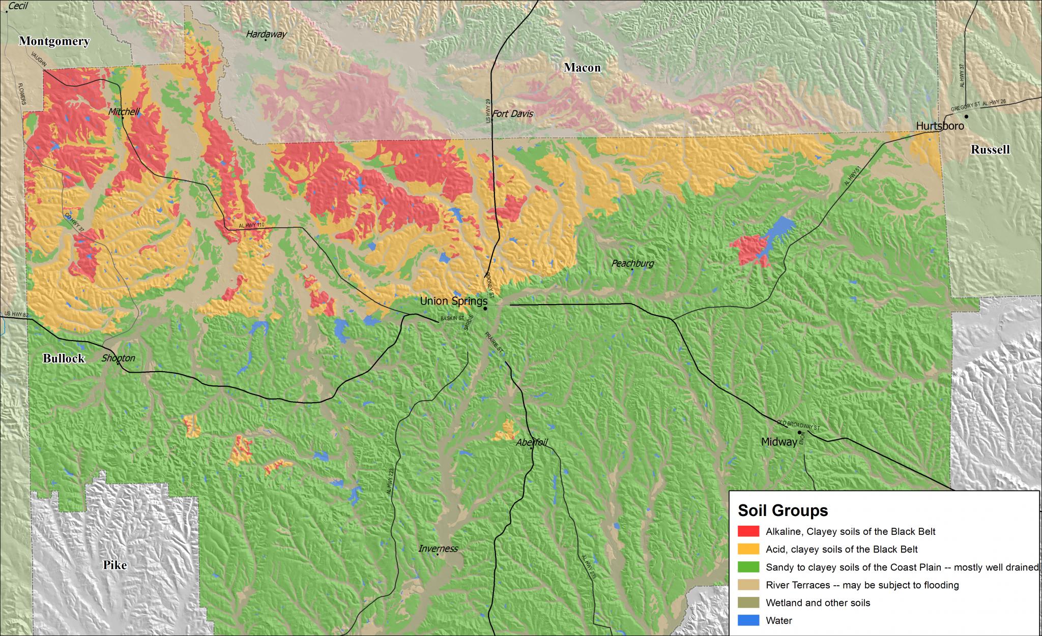 Soil groups map