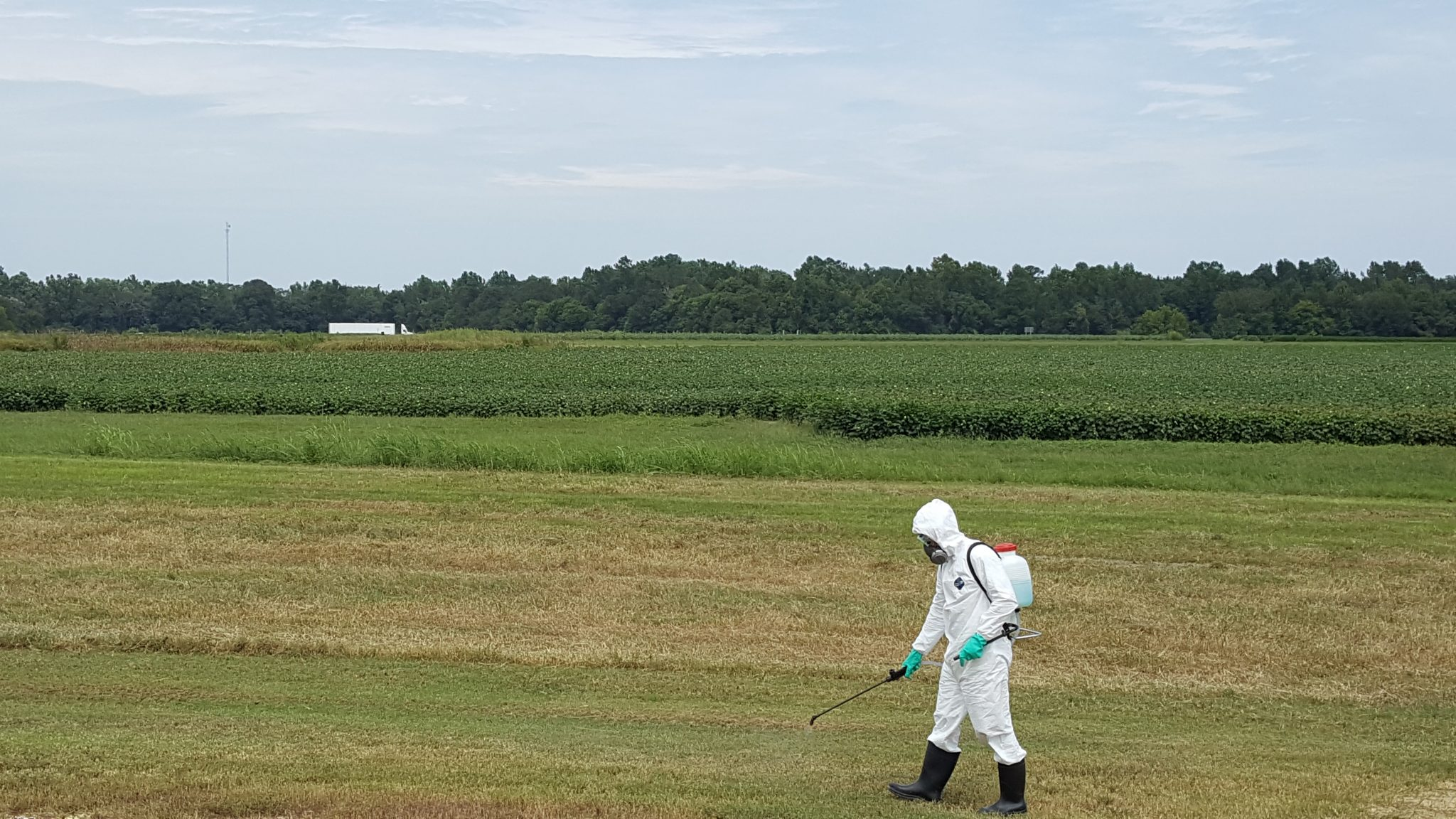 Pesticide Applicator in a Field