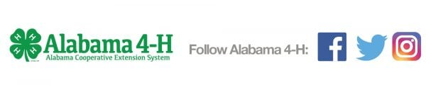 Alabama 4-H social media icons