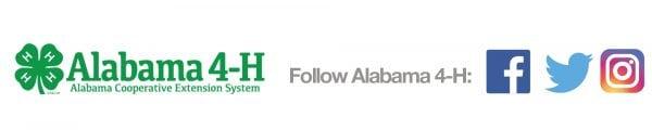 Alabama 4-H social media icons