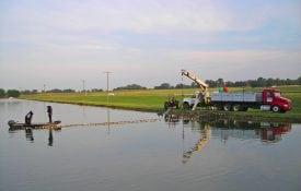 Alabama catfish production pond