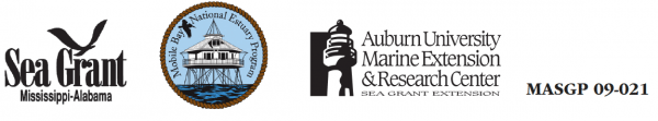 Sea Grant Mississippi-Alabama, Mobile Bay National Estuary Program, Auburn University Marine Extension & Research Center logos