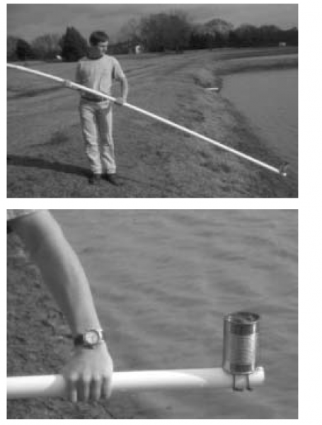 Figure 1. A simple sampler for collecting mud from a full pond