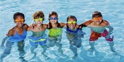 Alabama 4-H summer camp; Group of kids in swimming pool