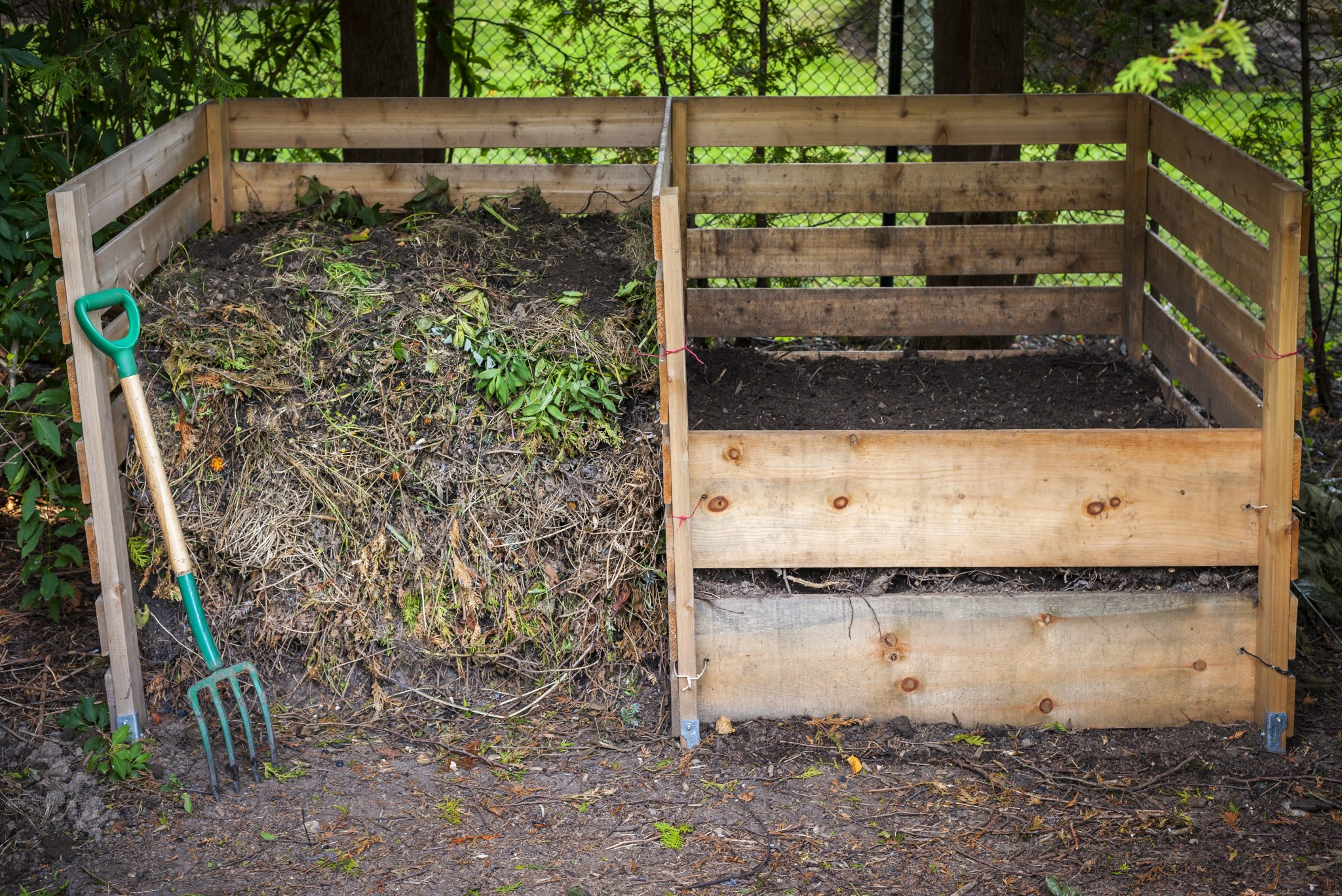 Backyard composting bins
