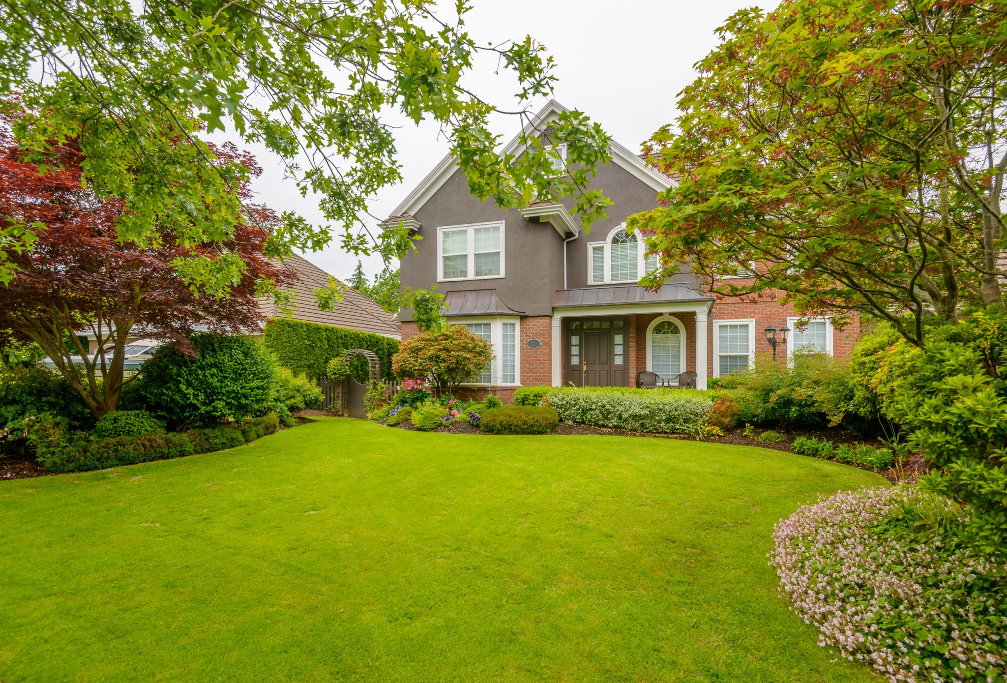 Home with mature landscaping