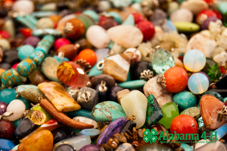 Alabama 4-H Freestyle Showcase; art beads on table