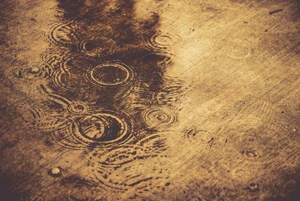 Acid rain raindrops
