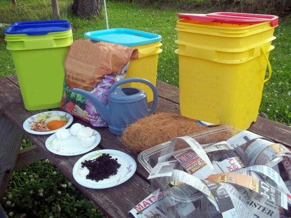 Almost any plastic container can make a good worm bin.
