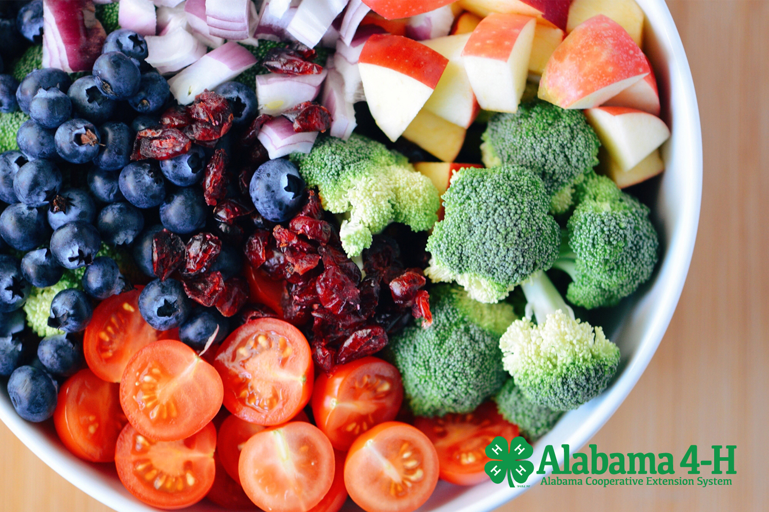 Alabama 4-H Chef 4-H; bowl of fruit and veggies