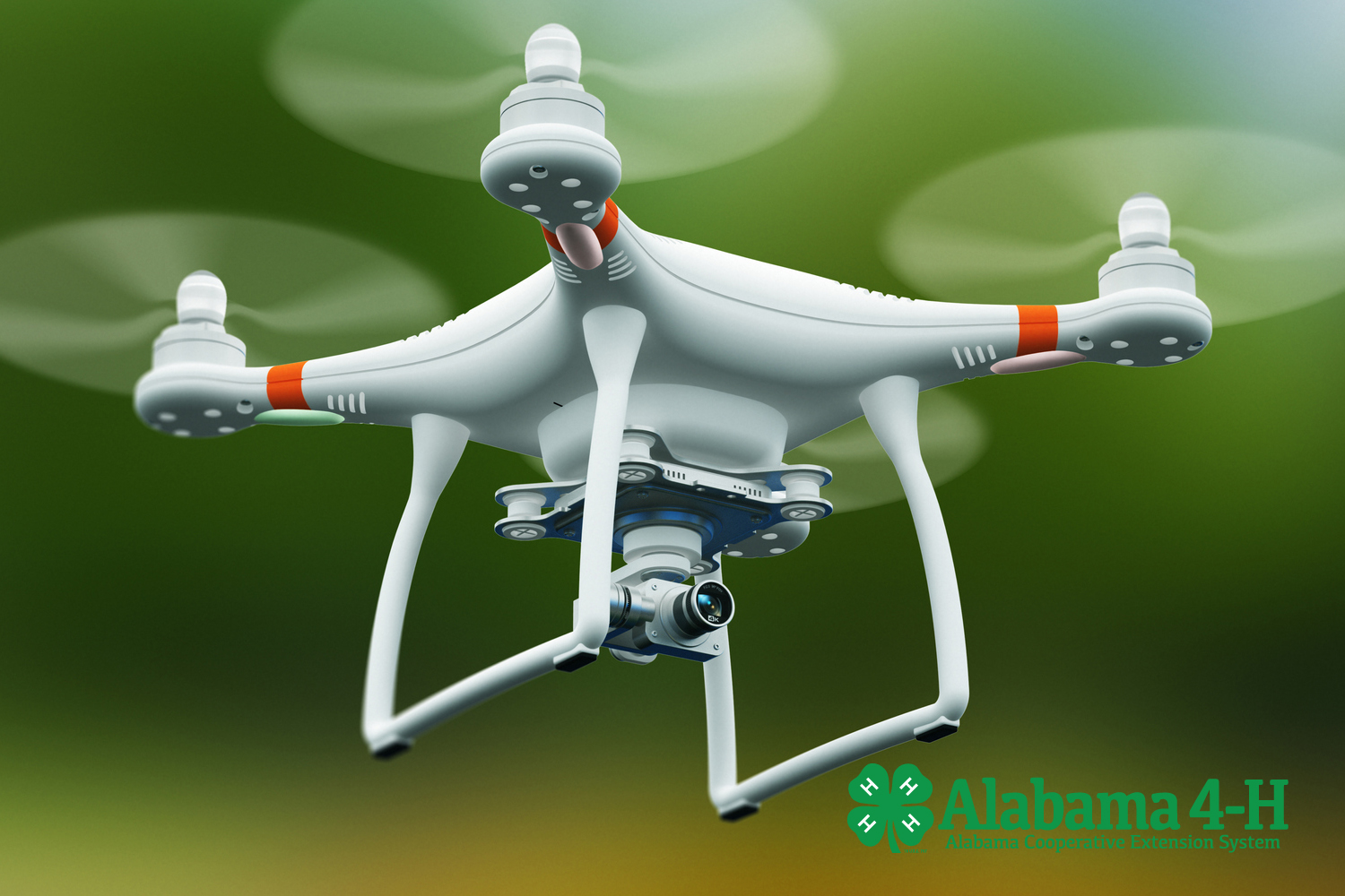 Alabama 4-H drones discovery program; drone in air