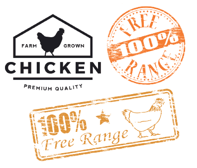 Free Range Chicken Product Labels