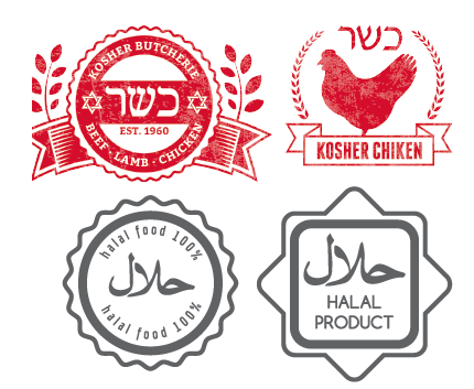 Halal, Kosher Product Labels