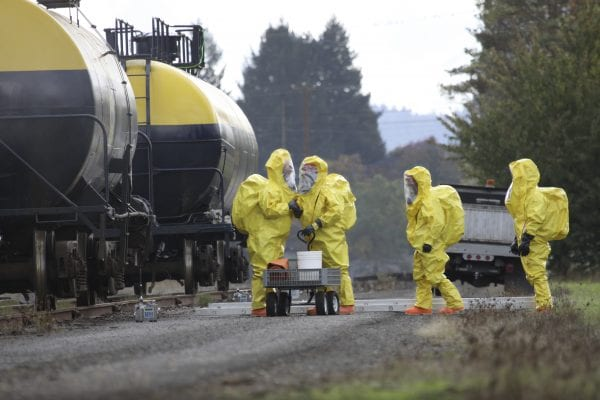HAZMAT Team Members Discusses Chemical Disaster