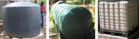 Different water containment devices