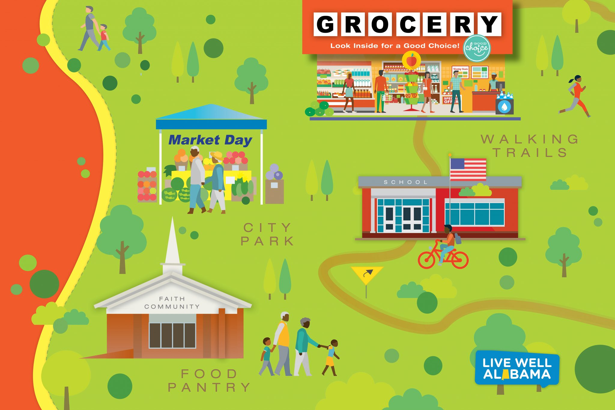 communities represented from Live Well Alabama annual report