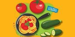 skillet spaghetti graphic