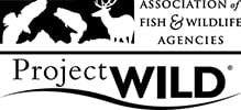Project WILD program logo; Association of Fish and Wildlife Agencies; Alabama 4-H