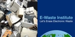 A huge pile of electronics are waiting to be recycled.