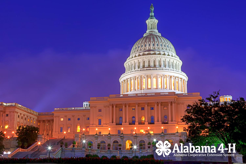 US Capitol; Alabama 4-H; National 4-H Conference