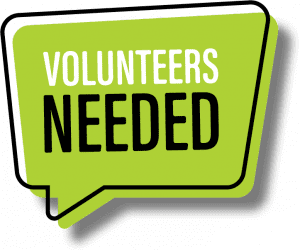 "Call out graphic ""Volunteers Needed"""