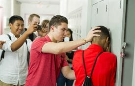 Bullying in high school hall