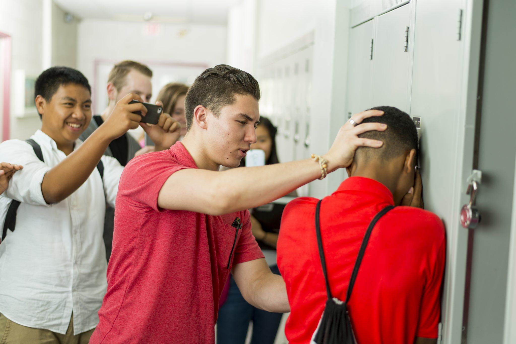 Bullying in high school hall