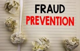 Handwritten text showing Fraud Prevention.
