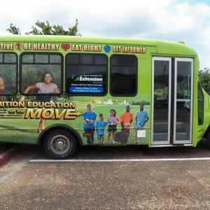 Nutrition Education on the Move bus