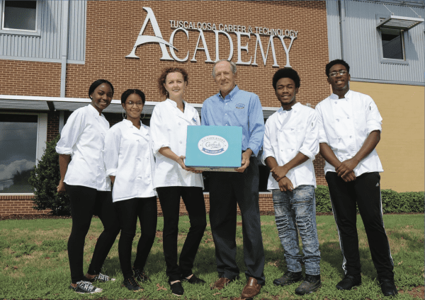 Alabama Catfish Producers State Chairman Sid Nelson delivered catfish fillets to the Tuscaloosa Career & Technology Academy (TCTA) as part of the Catfish Culinary Challenge.