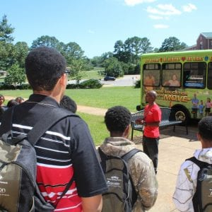 Groups of students tour the Alabama A&M Univeristy canvas during previous TNT conferences.
