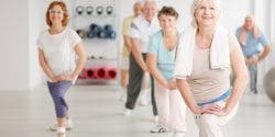 Older people in an exercise class