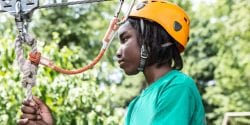 Alabama 4-H; youth on high ropes course; Tiger Giving Day