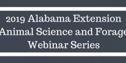 2019 Animal Science and Forage Webinar Series