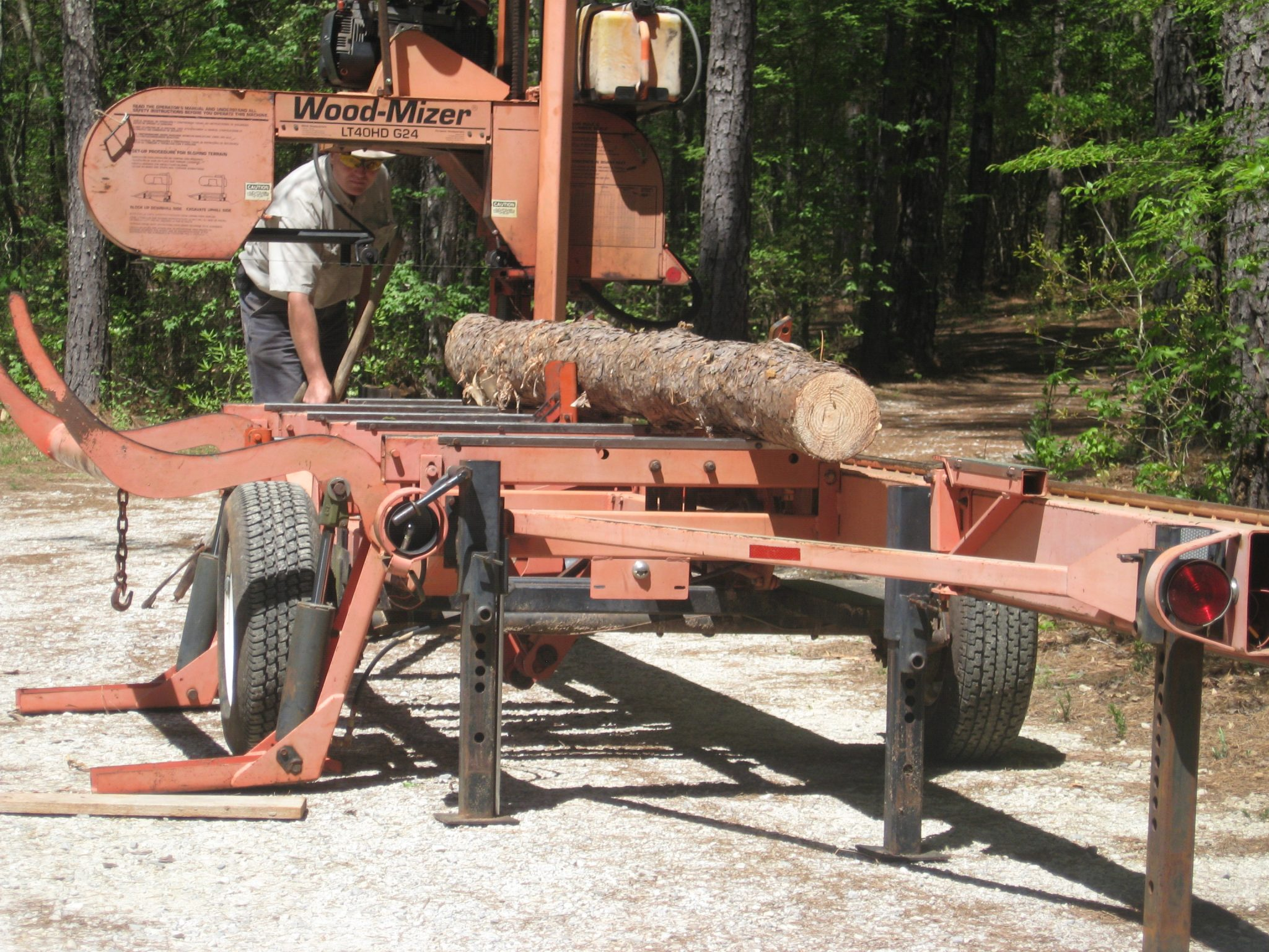 Portable sawmills can be moved to the location where trees will be harvested, eliminating the need to transport logs. (Photo credit: Becky Barlow)